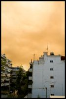 Red Smoke Over The City by Apotag