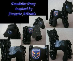 My little Pony Custom Daedalus by BerryMouse