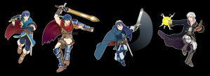 Smash Stickers: Fire Emblem by Tee-J