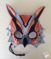 Mechanical Owl Leather Mask by b3designsllc