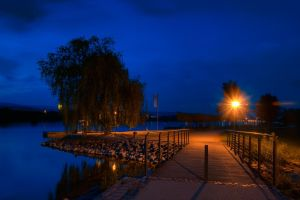 River Rhine by Night by mondspeer