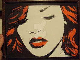 Rihanna pop art by charcoalmagic