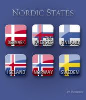 Nordic Flag Buttons - English by Fantiserare