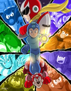 Mega Man 3 Tribute by faynster