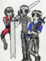 Vash, Kyou, and Slink by AxelVIII8913