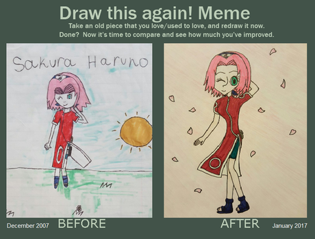 Draw This Again Meme: Sakura Haruno by princessahagen