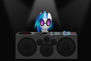 Vinyl At Her Booth by Synthrid