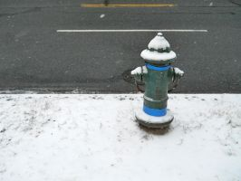 Fire Hydrant with Blue Duct Tape by Chlodulfa