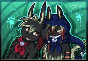 Lumis and Cronker x3 by Lumary92
