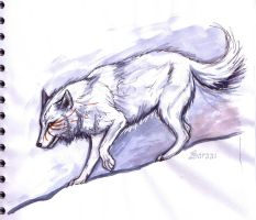 Wolf Sketch by Saraais
