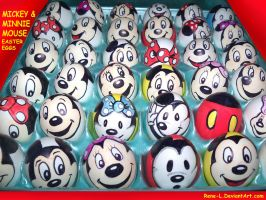 MIckey n Minnie Mouse Easter Eggs by Rene-L