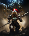 Dragonslayer Ornstein and Executioner Smough by PedroCampello