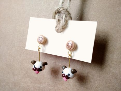 I Mustache You for Poro Snacks earrings by Sirix14