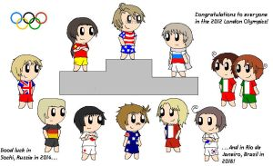 2012 Olympics-Top 10 Overall Medalists by SonicFan3