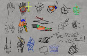 How To Draw Hands by DamienSaelak