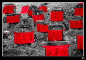 stones in red by tensai-riot