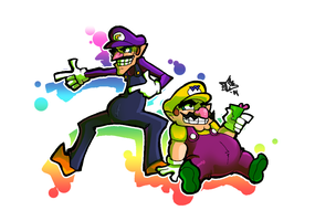 Mario Party - Waluigi and Wario by The-Pirate-Fox