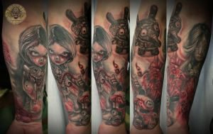Psycho dolls bloody rabbit by 2Face-Tattoo