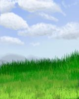 Grass and clouds background by Celianchis