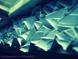 365 Project-Day 67: Sea Of Paper Boats by hourglass-paperboats