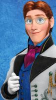 Prince Hans with glasses by cdpetee