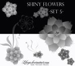 Shiny flowers -set 5 by Lileya