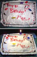 Max's birthday cake by ashkey