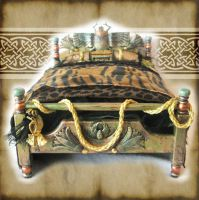 Miniature Egyptian Bed by grimdeva