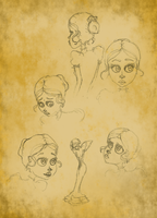 More Lucille sketches by Beccawolf16
