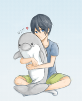 Haru-chan's Dolphin by pastelteapot