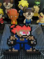Akuma 8-bit bead art by h0lysharks
