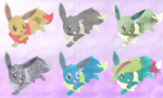 Eevee Adoptables .::OPEN::. by StarryAdopts