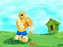 Chibi Sagat by MeaT-Artworx