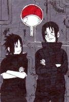 uchiha brothers by frecklesmile