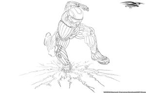Crysis - Prophet - air stomp - Clean sketch by Unreal-Forever