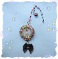 Sentimental Circus handmade Cell Phone Resin Charm by Fiolettakk2