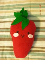 Strawberry Plush-Medium by MONSTERCreations