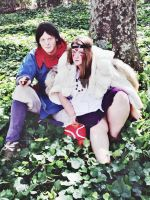 Princess Mononoke and Prince Ashitaka by Ashelectric
