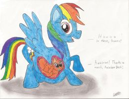 Rainbow Dash/Scootaloo Vore by CobaltBrony