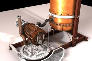 Steampunk Gatling gun WIP 4 by 3Dapple