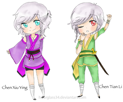 The Chen Twins : Chibi by Hourglass34