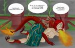 Triss' Fiery Mishap  by BPassion91