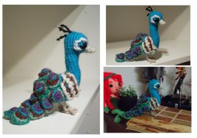 Peacock Amigurumi by AppleGrayWolf
