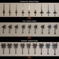 Barbaric Weapon Sets Low by Arx-Design