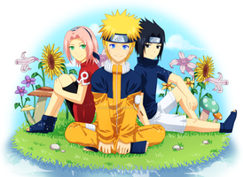NaruSakuSasu - A Little Brighter by Ginryuzaki