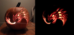 Dragon Jack O' Lantern by winter-bright