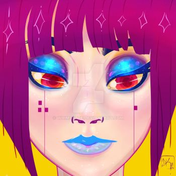 Neon Face by Whimsette