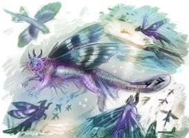 Flying Fish creature by Maquenda