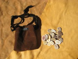 Antler runes + leather bag by lupagreenwolf