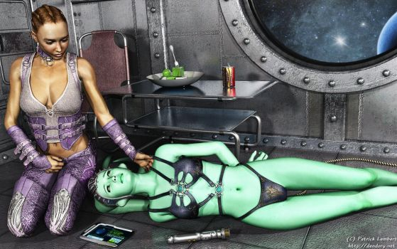 An evening with her Twi'lek by Dendory